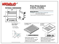 Physical Dimensions for 4-Drawer Press Brake Tool Cabinet